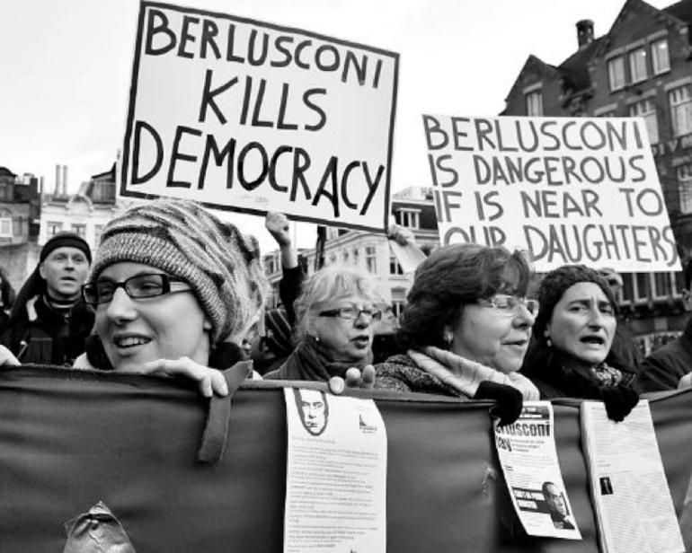 Protest, Berlusconi, Italian Women